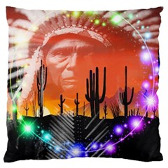 Ghost Dance Large Cushion Case (single Sided)
