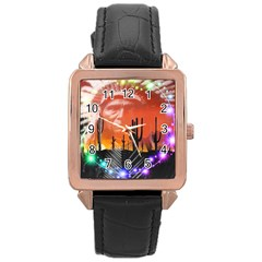 Ghost Dance Rose Gold Leather Watch