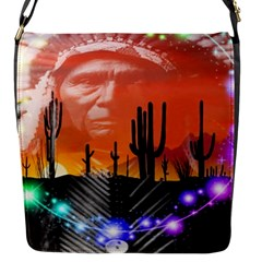 Ghost Dance Flap Closure Messenger Bag (small)