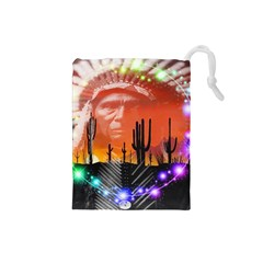 Ghost Dance Drawstring Pouch (Small)