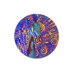 Peacock Magnet 3  (round)