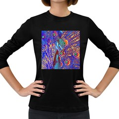 Peacock Women s Long Sleeve T-shirt (Dark Colored)