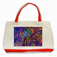 Peacock Classic Tote Bag (Red)