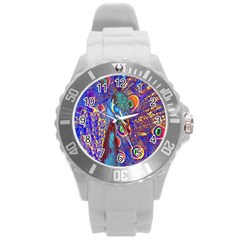 Peacock Plastic Sport Watch (Large)