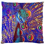 Peacock Large Cushion Case (Single Sided)  Front