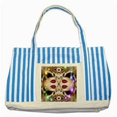Magic Spell Blue Striped Tote Bag
