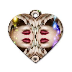Magic Spell Dog Tag Heart (two Sided)