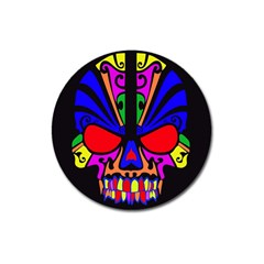 Skull In Colour Magnet 3  (round)