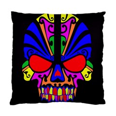 Skull In Colour Cushion Case (two Sided)