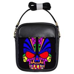 Skull In Colour Girl s Sling Bag