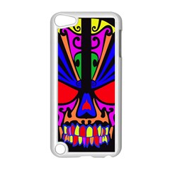 Skull In Colour Apple iPod Touch 5 Case (White)