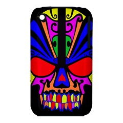 Skull In Colour Apple iPhone 3G/3GS Hardshell Case (PC+Silicone)