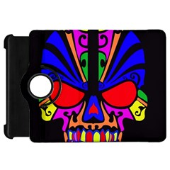 Skull In Colour Kindle Fire Hd Flip 360 Case