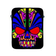 Skull In Colour Apple Ipad Protective Sleeve