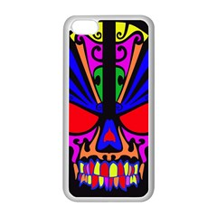 Skull In Colour Apple iPhone 5C Seamless Case (White)