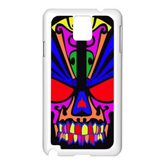 Skull In Colour Samsung Galaxy Note 3 N9005 Case (White)