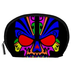 Skull In Colour Accessory Pouch (Large)