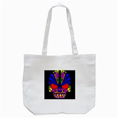 Skull In Colour Tote Bag (white)