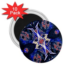 Decorative Retro Floral Print 2 25  Button Magnet (10 Pack)