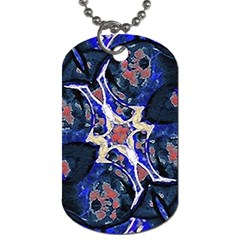 Decorative Retro Floral Print Dog Tag (One Sided)