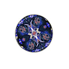 Decorative Retro Floral Print Golf Ball Marker 4 Pack (for Hat Clip)