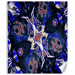 Decorative Retro Floral Print Canvas 20  x 24  (Unframed)
