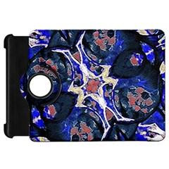 Decorative Retro Floral Print Kindle Fire HD Flip 360 Case