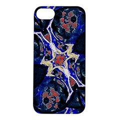 Decorative Retro Floral Print Apple iPhone 5S Hardshell Case
