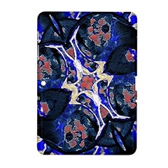 Decorative Retro Floral Print Samsung Galaxy Tab 2 (10 1 ) P5100 Hardshell Case