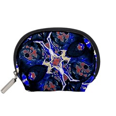 Decorative Retro Floral Print Accessory Pouch (Small)