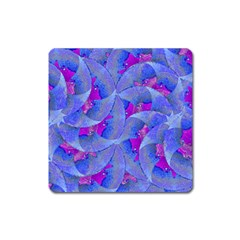 Abstract Deco Digital Art Pattern Magnet (square)