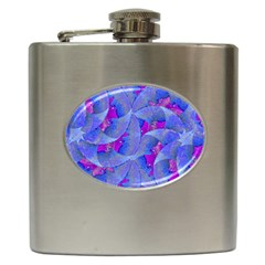 Abstract Deco Digital Art Pattern Hip Flask