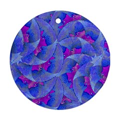 Abstract Deco Digital Art Pattern Round Ornament (two Sides)