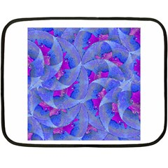 Abstract Deco Digital Art Pattern Mini Fleece Blanket (Two Sided)