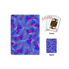 Abstract Deco Digital Art Pattern Playing Cards (mini)
