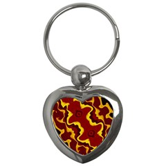 Tribal Summer Nightsdreams Pattern Key Chain (heart)