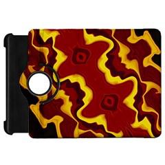 Tribal Summer Nightsdreams Pattern Kindle Fire Hd Flip 360 Case