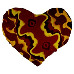 Tribal Summer Nightsdreams Pattern 19  Premium Heart Shape Cushion