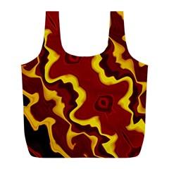 Tribal Summer Nightsdreams Pattern Reusable Bag (L)