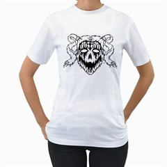 7 Gates Graffix Women s T Shirt (white) (two Sided)
