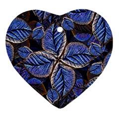 Fantasy Nature Pattern Print Heart Ornament
