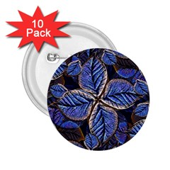 Fantasy Nature Pattern Print 2.25  Button (10 pack)