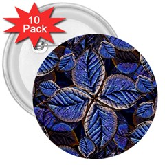 Fantasy Nature Pattern Print 3  Button (10 pack)