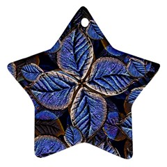 Fantasy Nature Pattern Print Star Ornament (Two Sides)