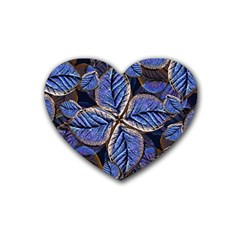 Fantasy Nature Pattern Print Drink Coasters 4 Pack (heart)