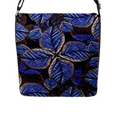 Fantasy Nature Pattern Print Flap Closure Messenger Bag (Large)