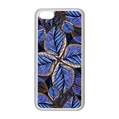 Fantasy Nature Pattern Print Apple iPhone 5C Seamless Case (White)