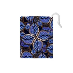 Fantasy Nature Pattern Print Drawstring Pouch (Small)