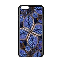 Fantasy Nature Pattern Print Apple Iphone 6 Black Enamel Case
