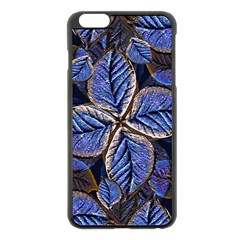 Fantasy Nature Pattern Print Apple iPhone 6 Plus Black Enamel Case